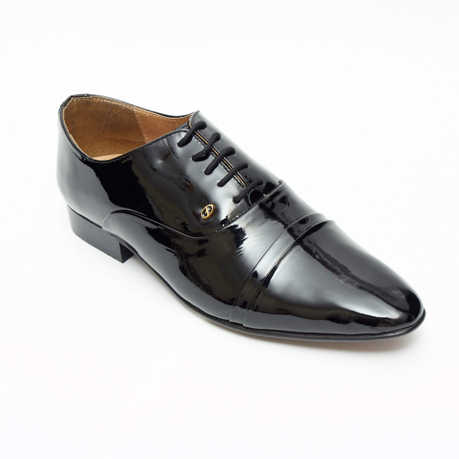 Mens Leather Spanish Shoes Patent - 33451