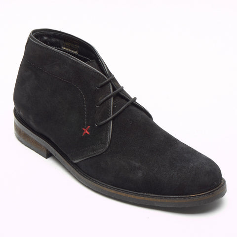 Mens Suede Desert Boots - SF-5151 Black
