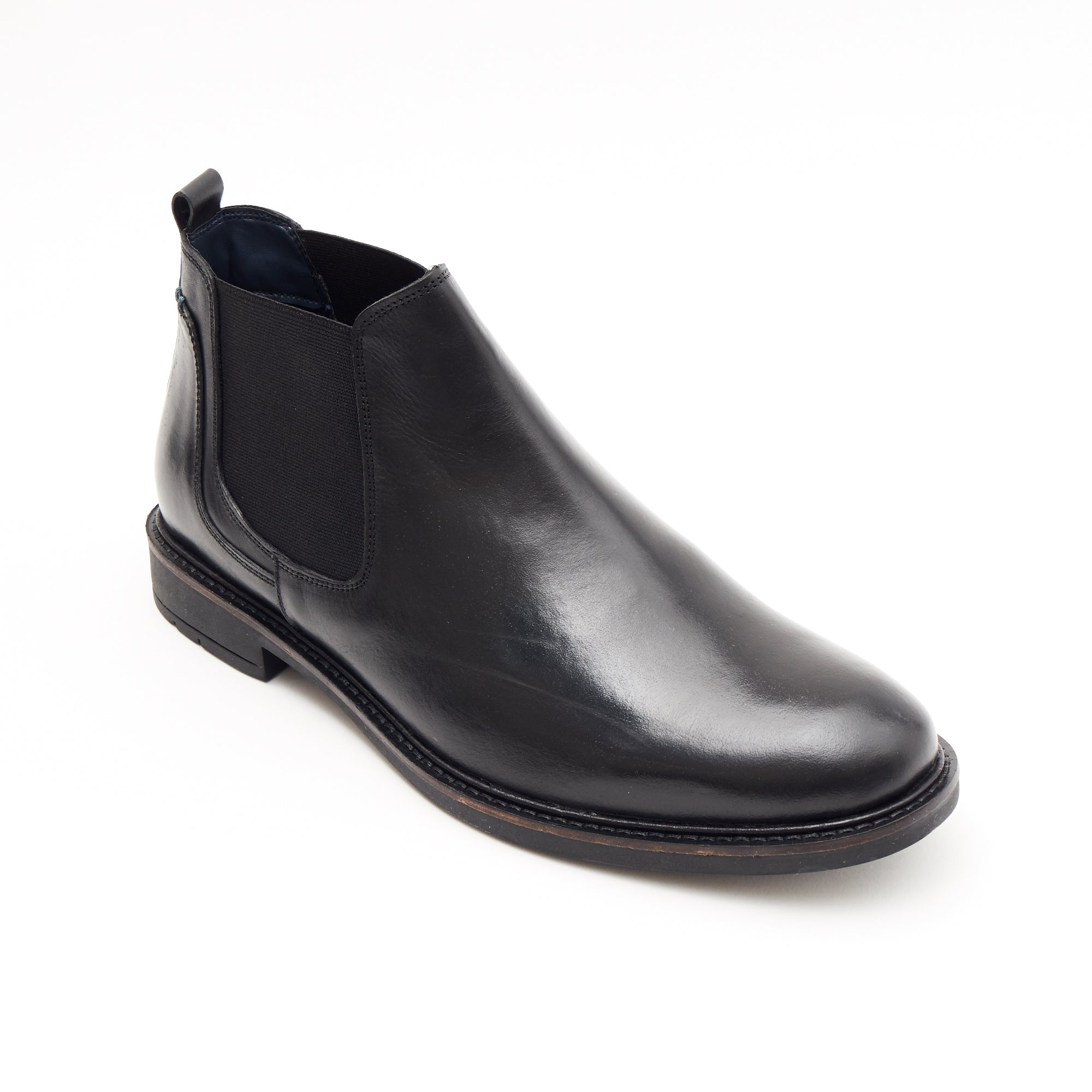Mens Leather Chelsea Boots 26404_Black