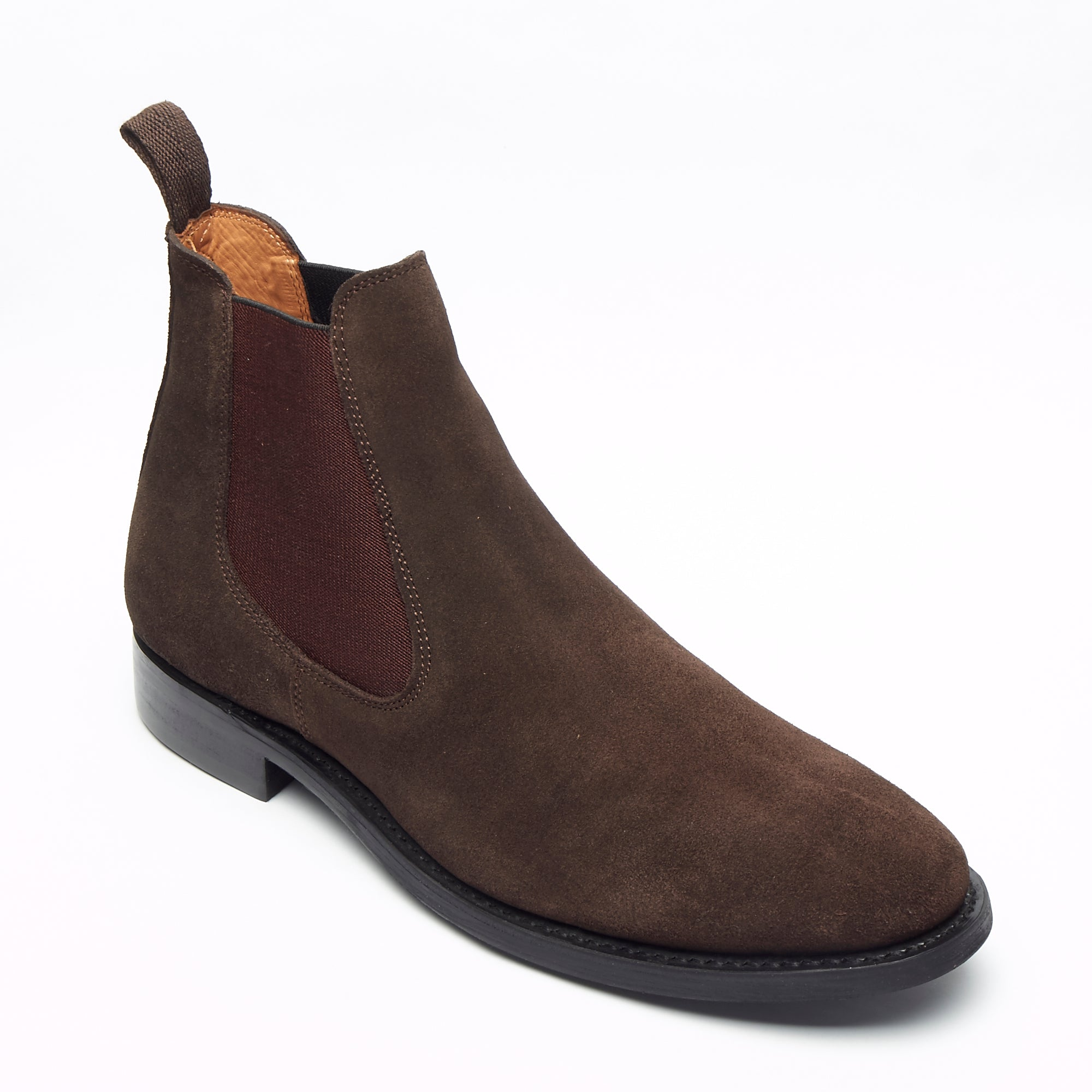 Mens Goodyear Welted Suede Chelsea Boots - 27817 Brown