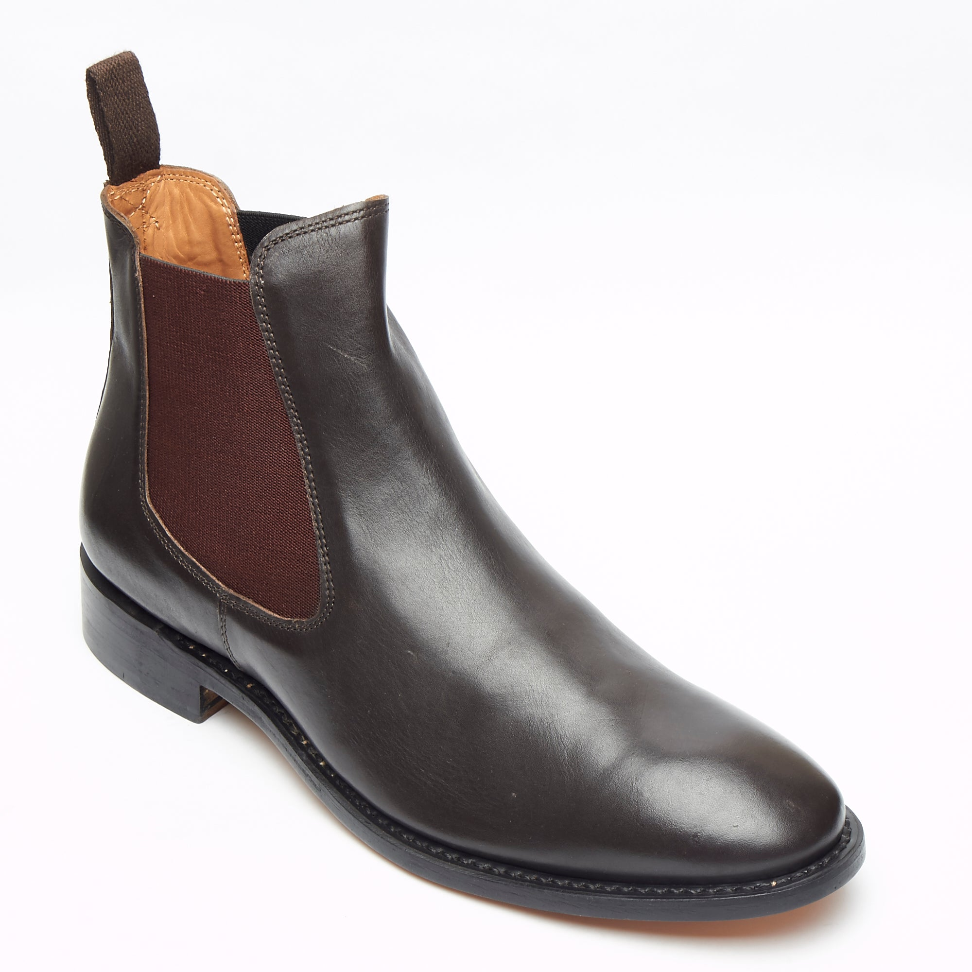 Mens Goodyear Welted Leather Chelsea Boots - 27817 Brown