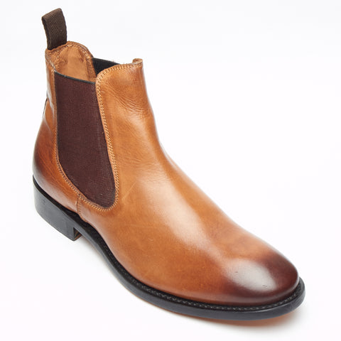 Mens Goodyear Welted Leather Chelsea Boots - 27817 Tan