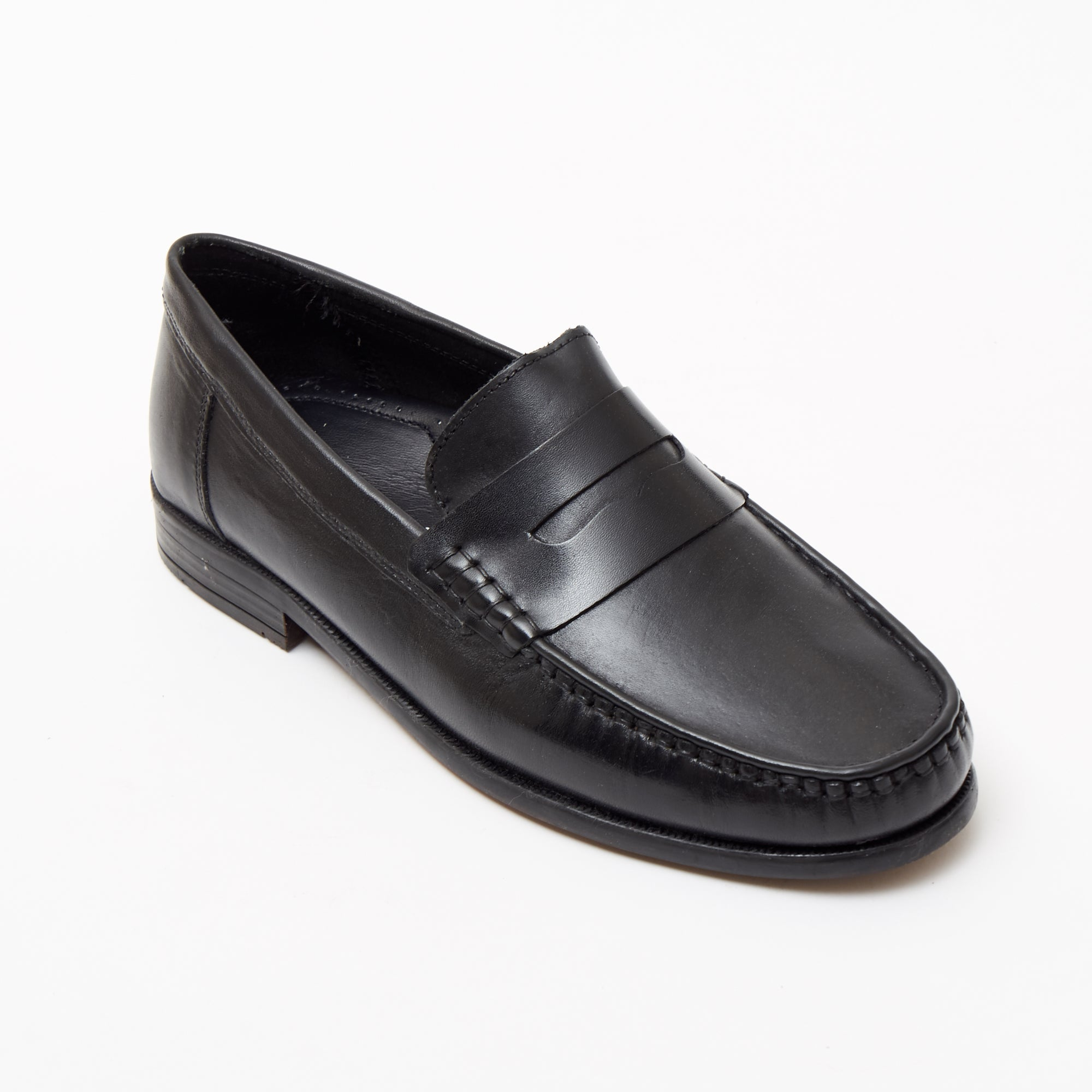 Mens Leather Casual Shoes - 2812_Black Buff