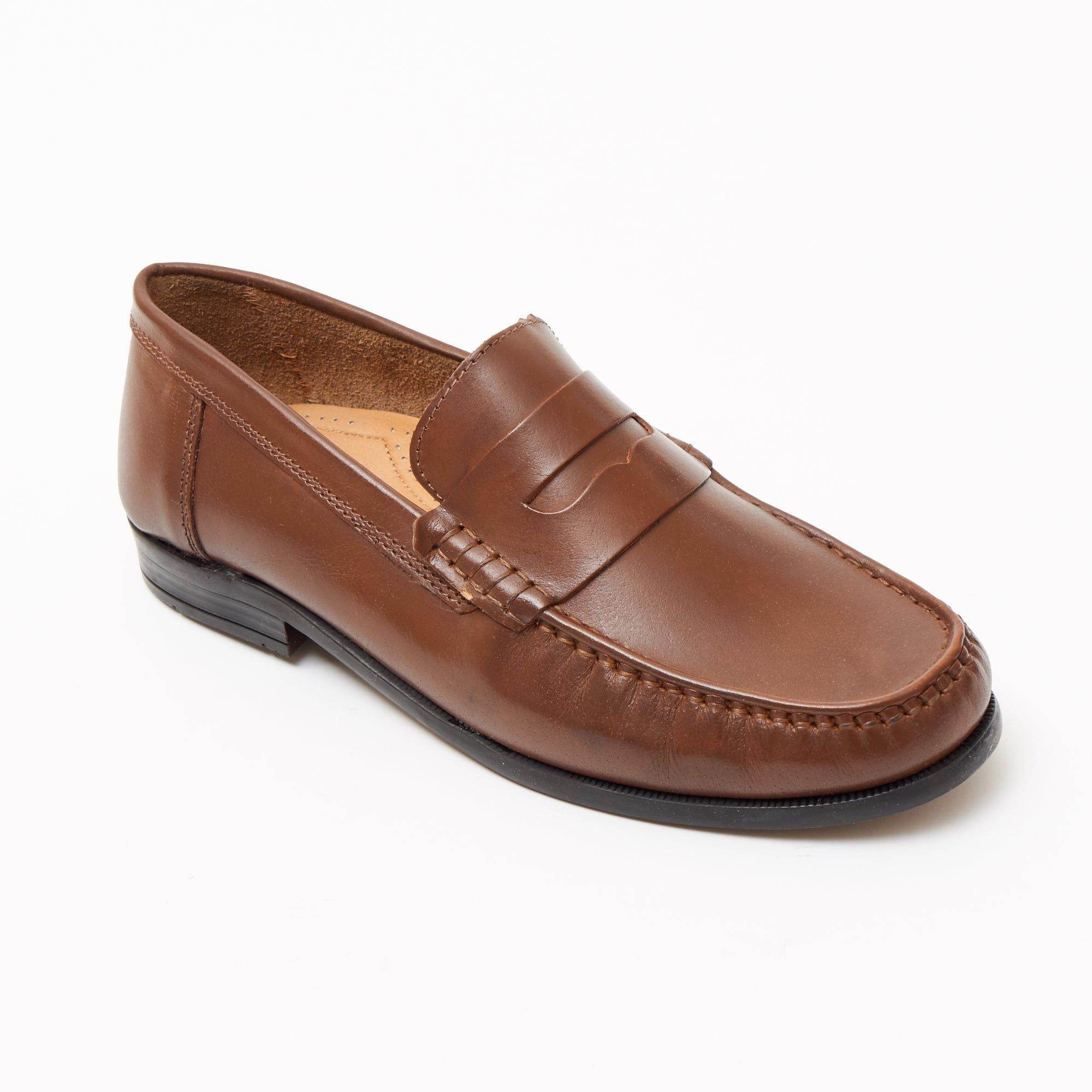 Mens Leather Casual Shoes - 2812_Tan Buff