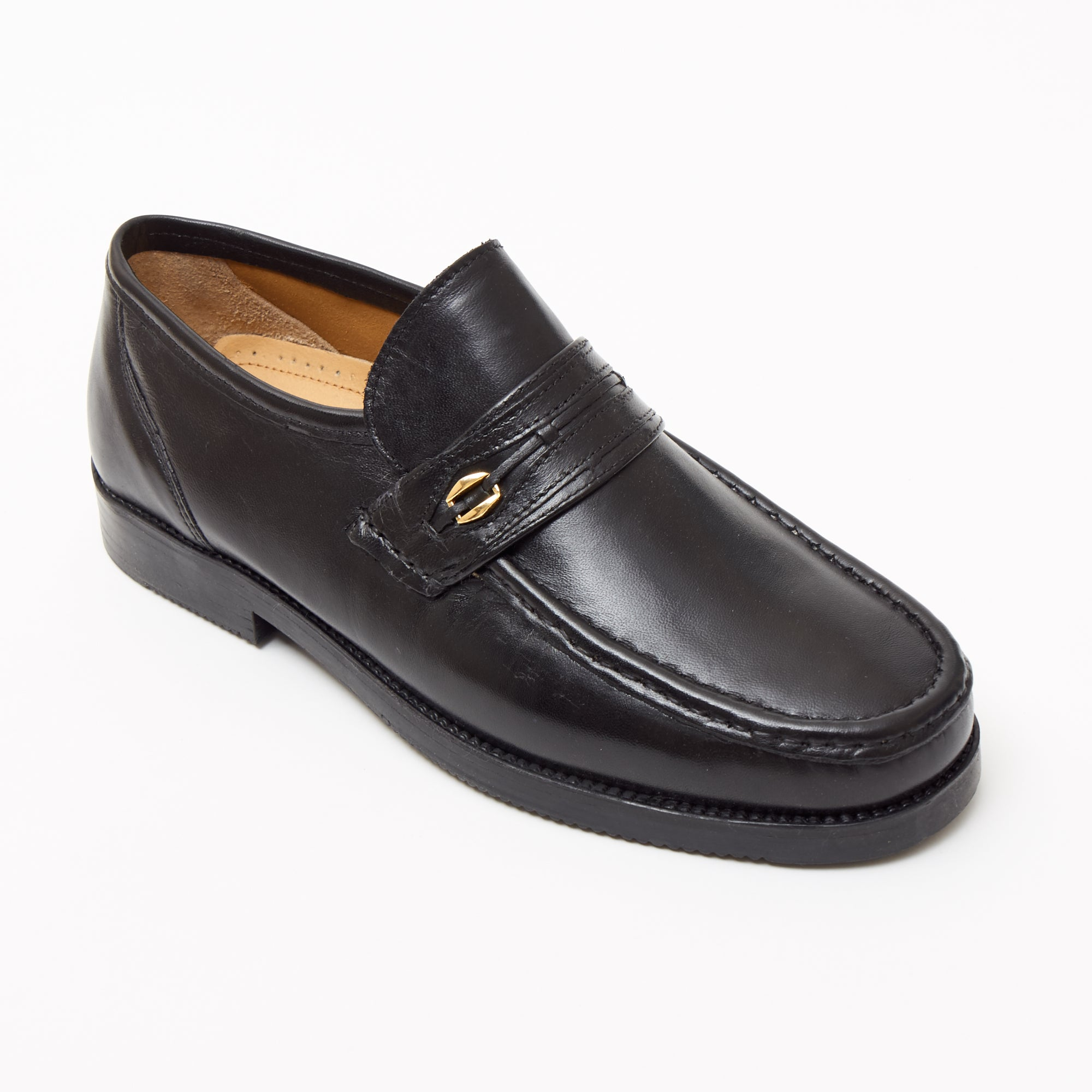 Mens Leather Casual Shoes - 2812_Black Sheep Napa