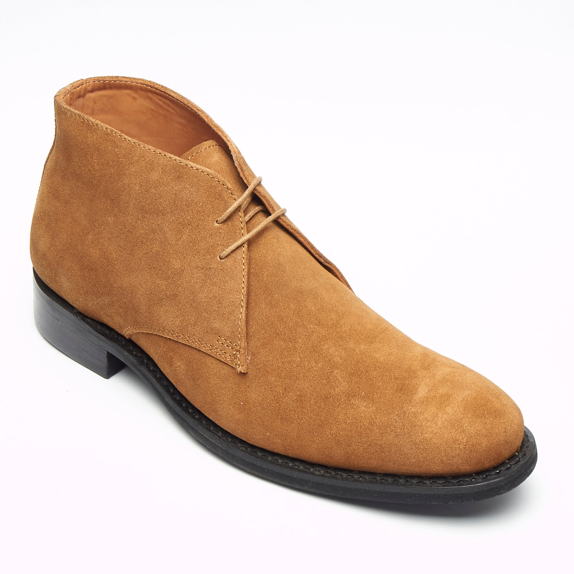 Mens Goodyear Welted Suede Lace Up Ankle Boots - 35515 Tan