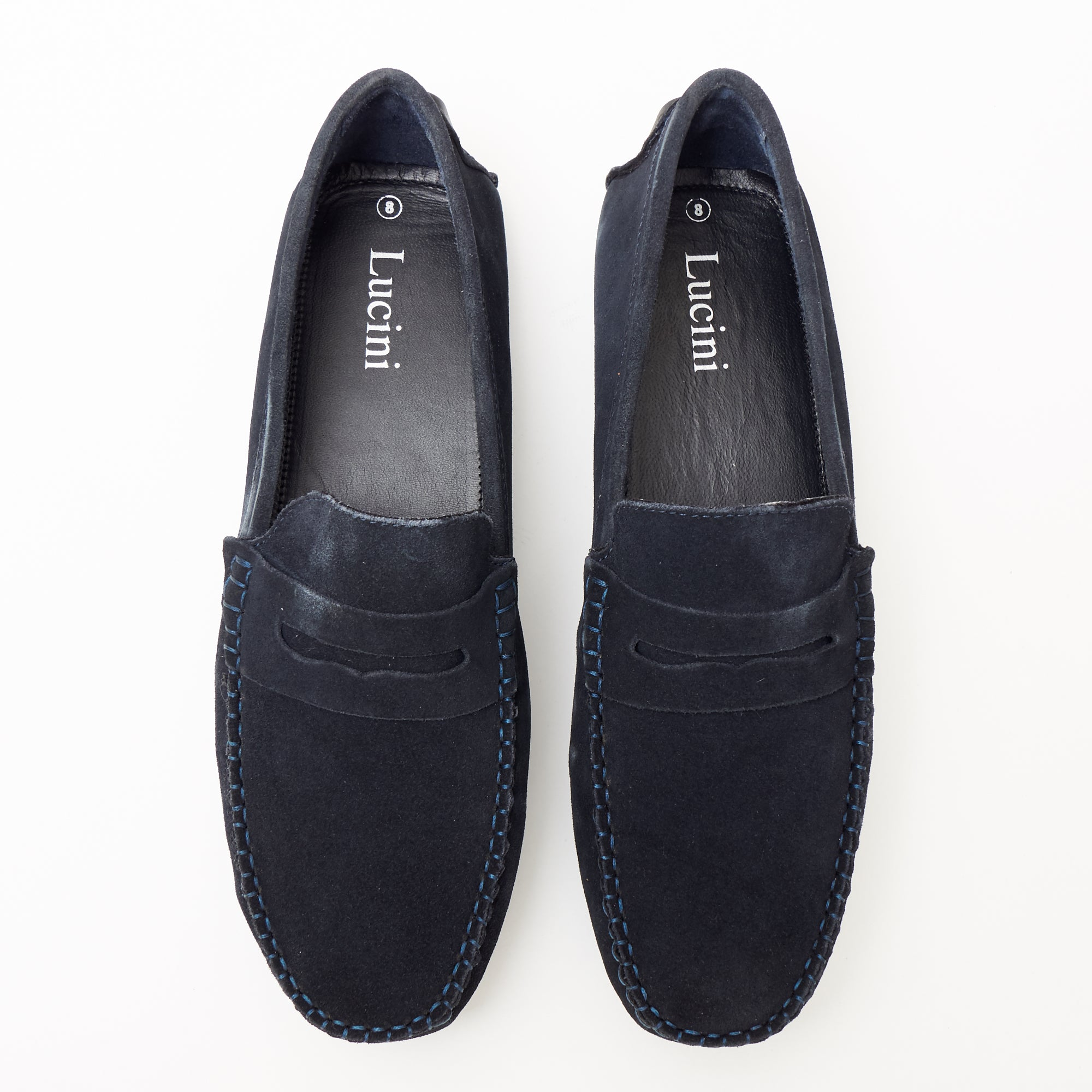 25be060393377 Mens Suede Casual Slip On Shoes - 4611-S Navyblue ...