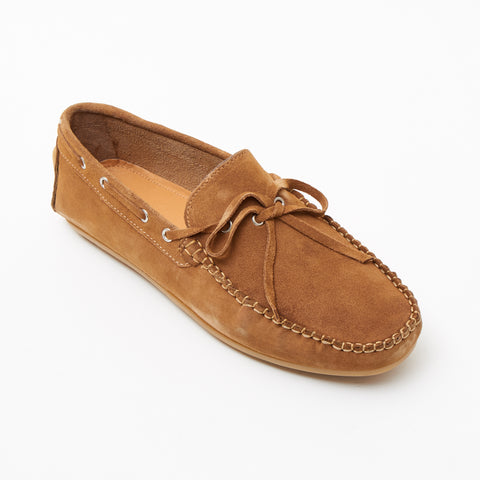 Mens Suede Casual Slip On Shoes - 4611-L_Tan