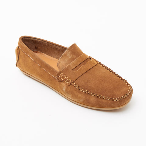 Mens Suede Casual Slip On Shoes - 4611-S_Tan