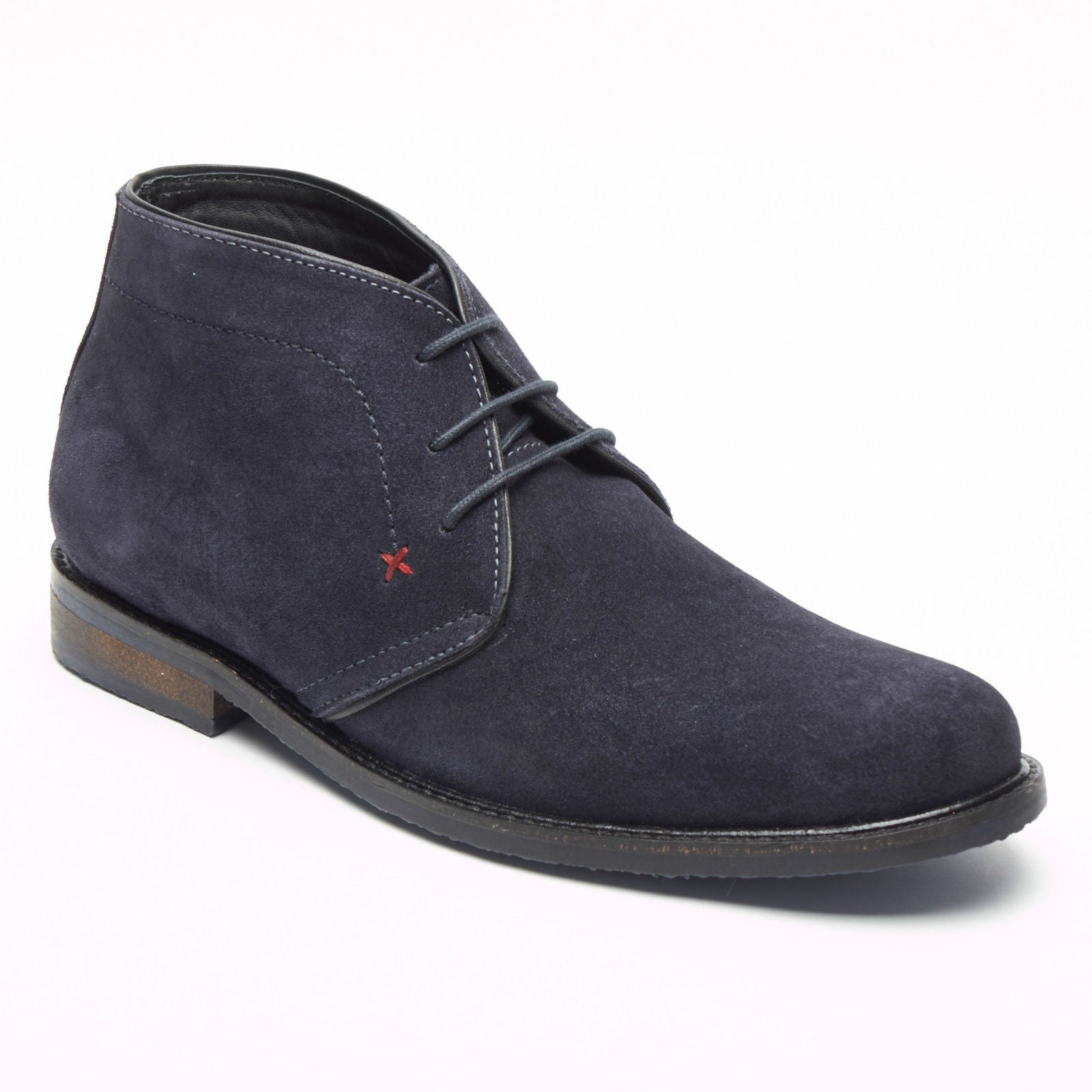 Mens Suede Desert Boots - SF-5151 Navy Blue