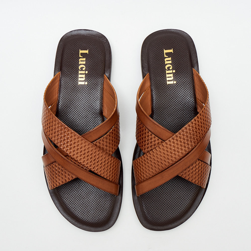 Mens Leather Summer Sandals - 62540