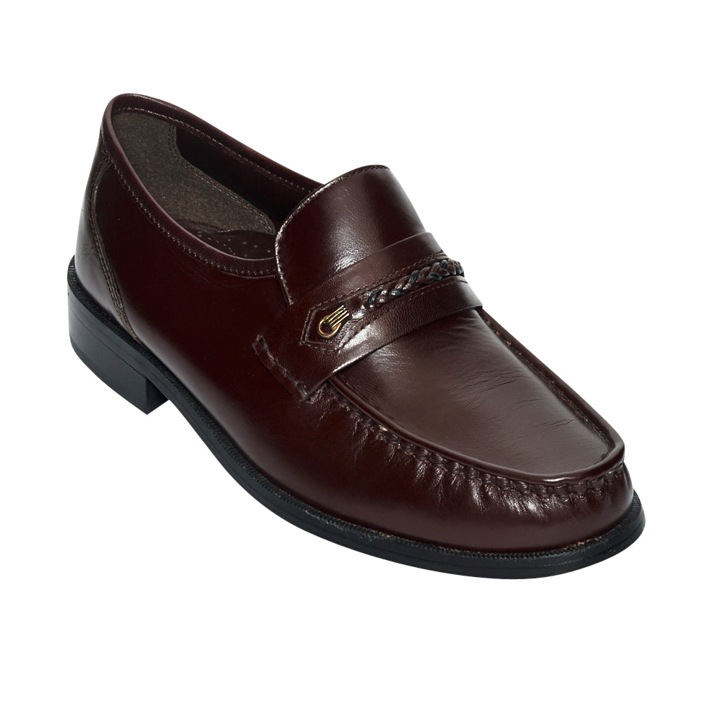 Mens Leather Formal Casual Shoes- Bartan-2_Burgundy