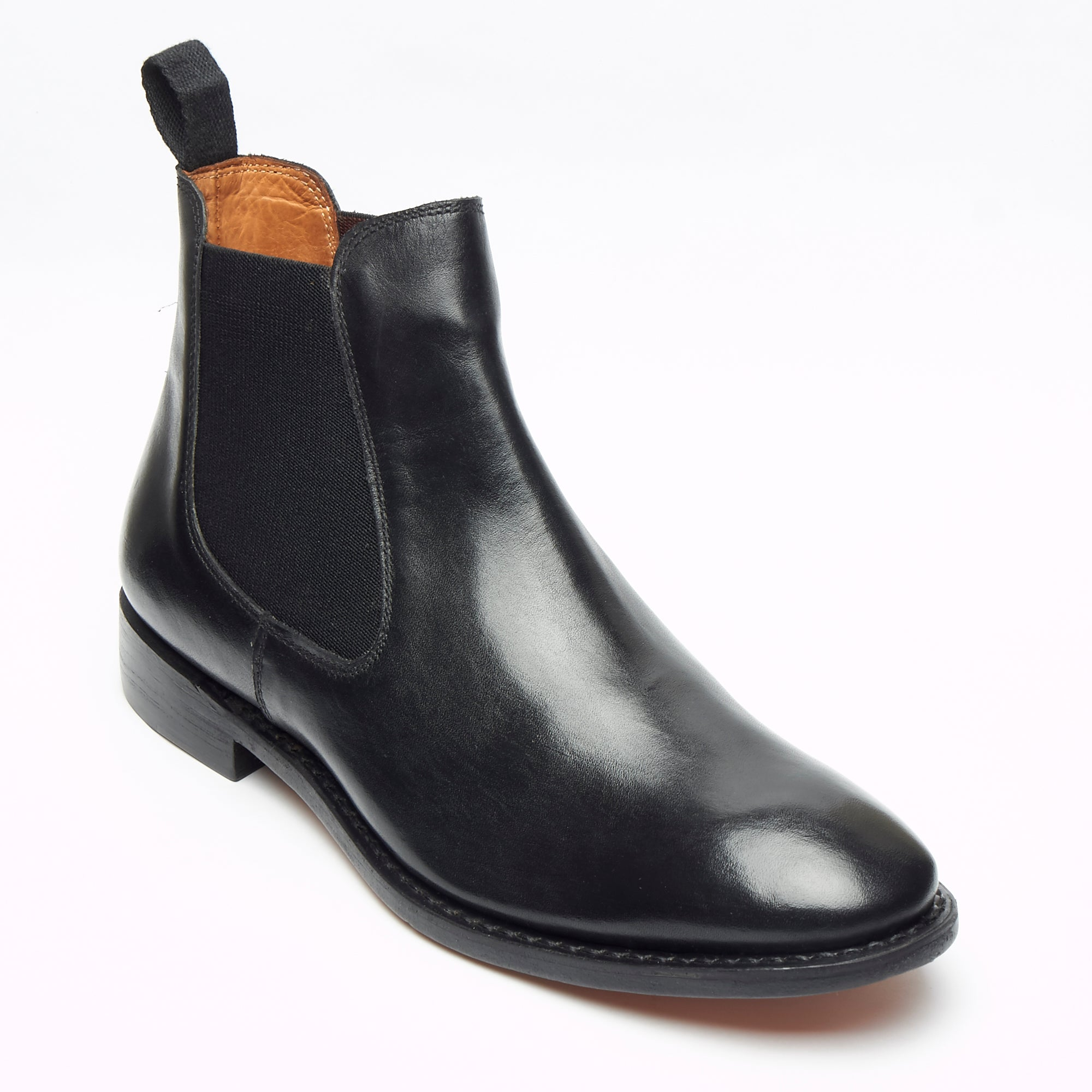 Mens Goodyear Welted Leather Chelsea Boots - 27817 Black