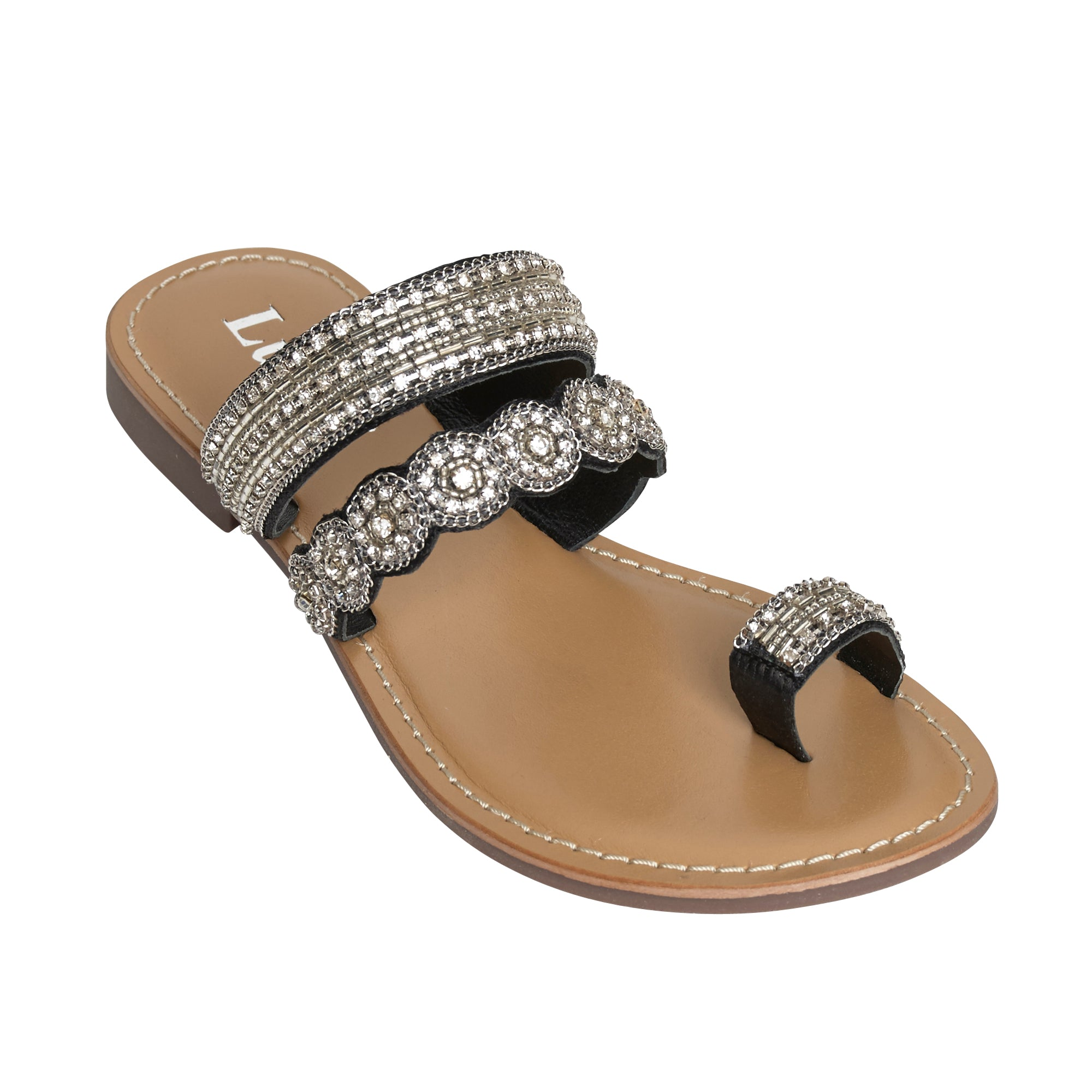 Ladies Flat Sandals IF-5329 Black