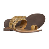 Ladies Flat Sandals IF-5329 Gold
