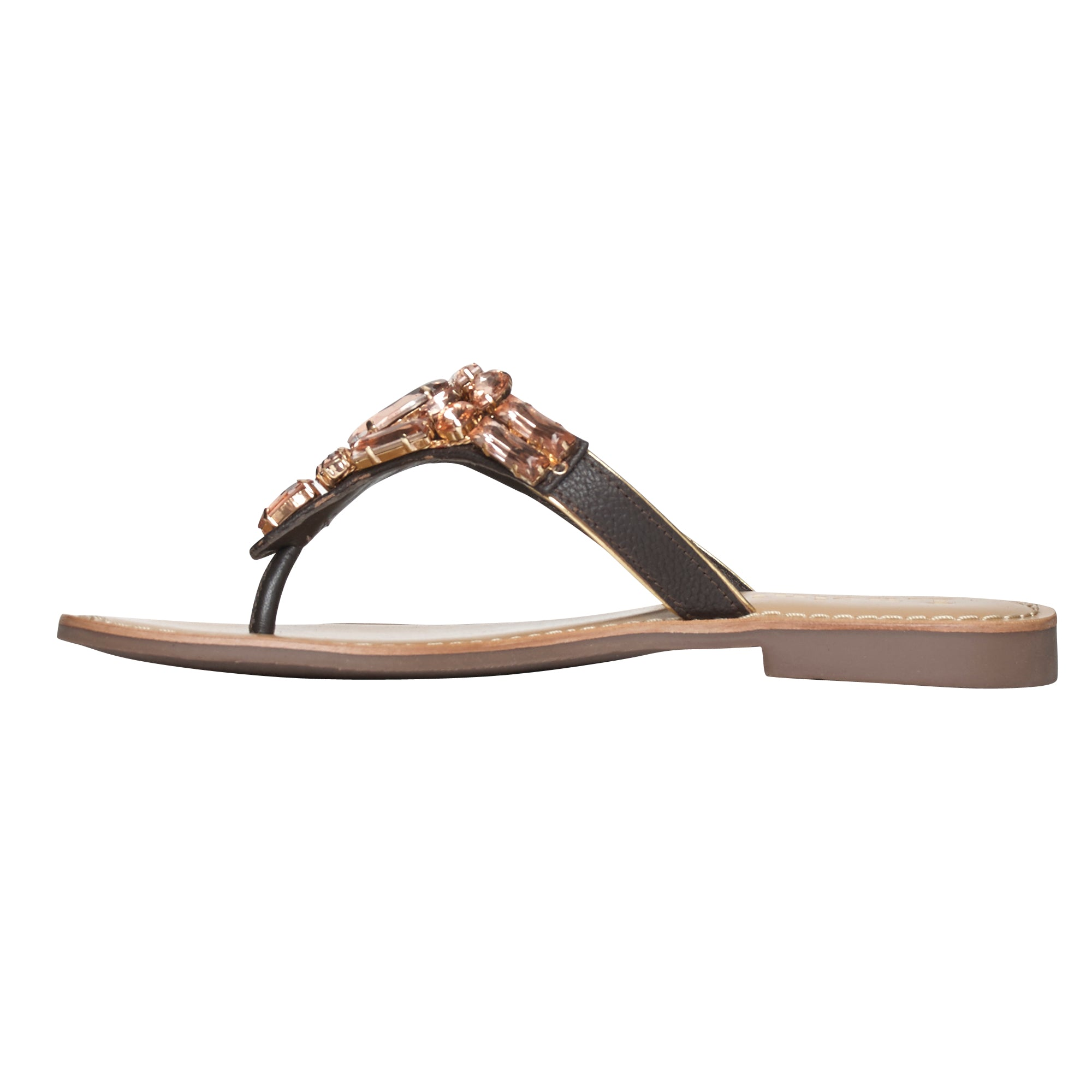 Ladies Flat Sandals IF-5383 Brown_Copper