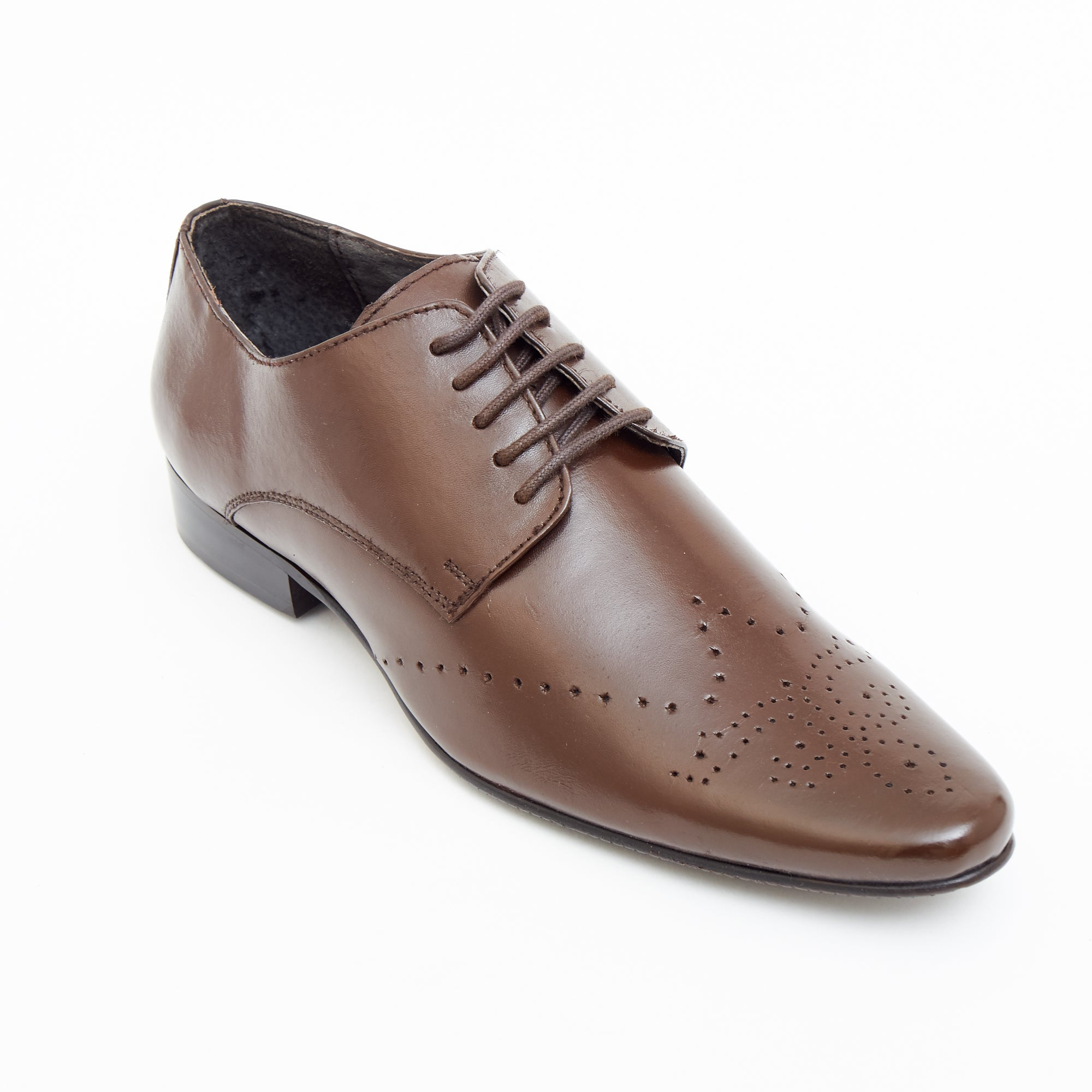 Mens Leather Formal Casual Shoes - 50543_Brown