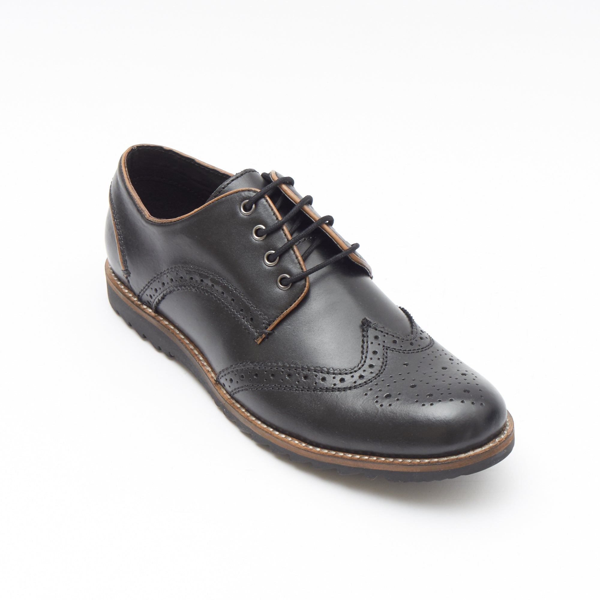 Mens Leather Formal Shoes-50623_Black