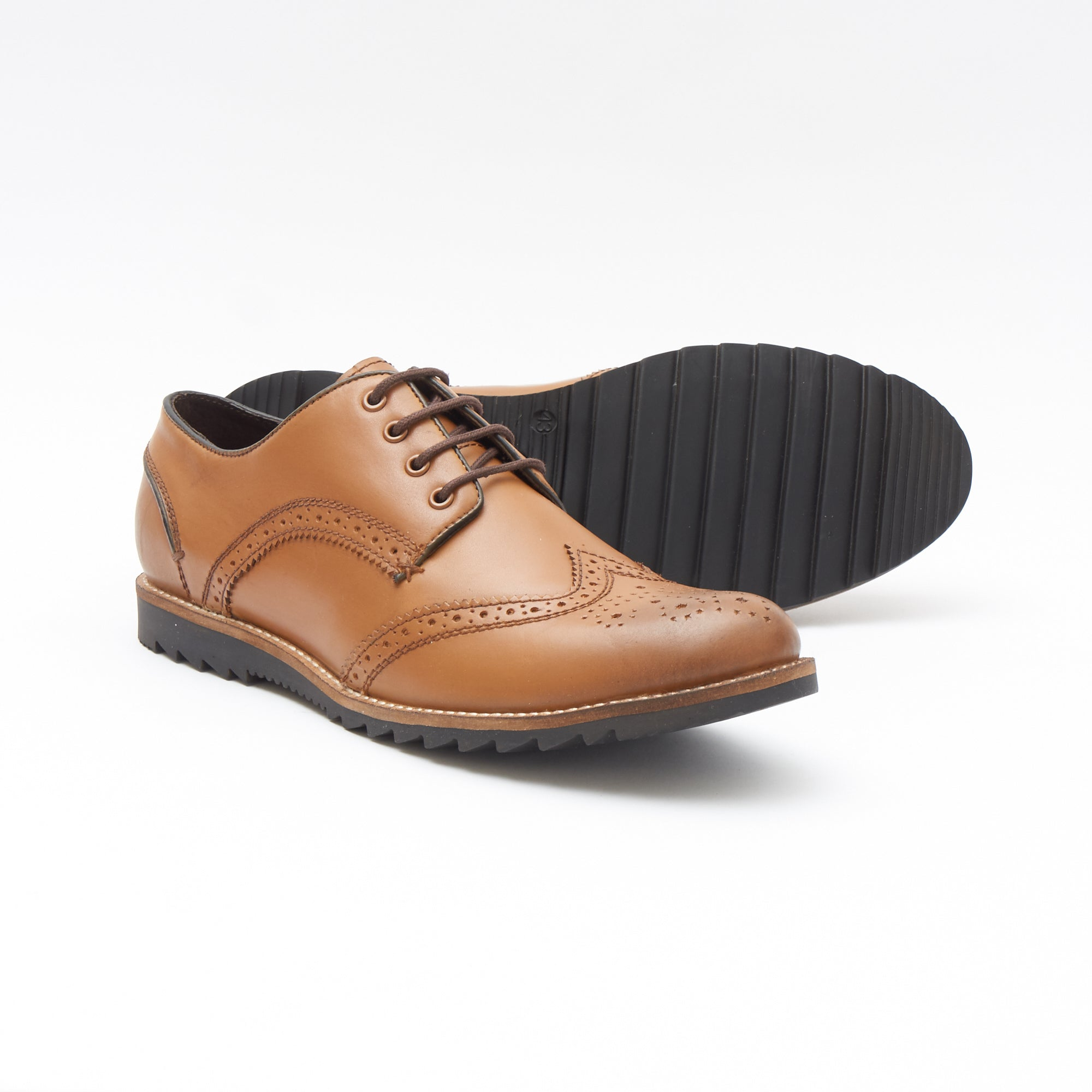 Mens Leather Formal Shoes-50623_Tan