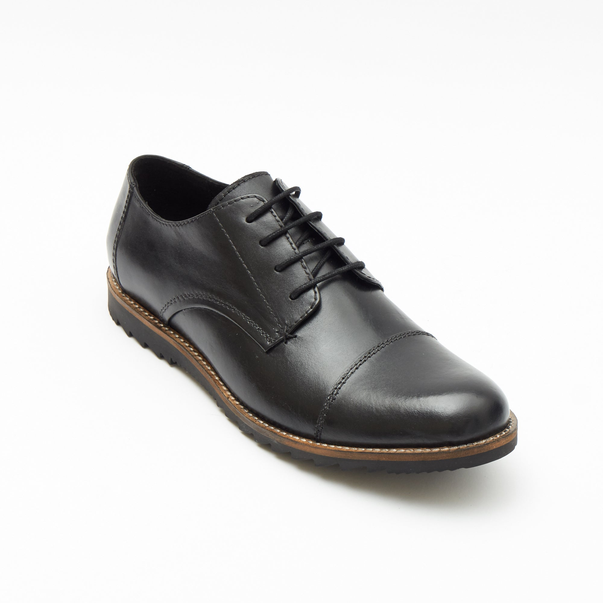Mens Leather Formal Oxford Shoes- 50631_Black