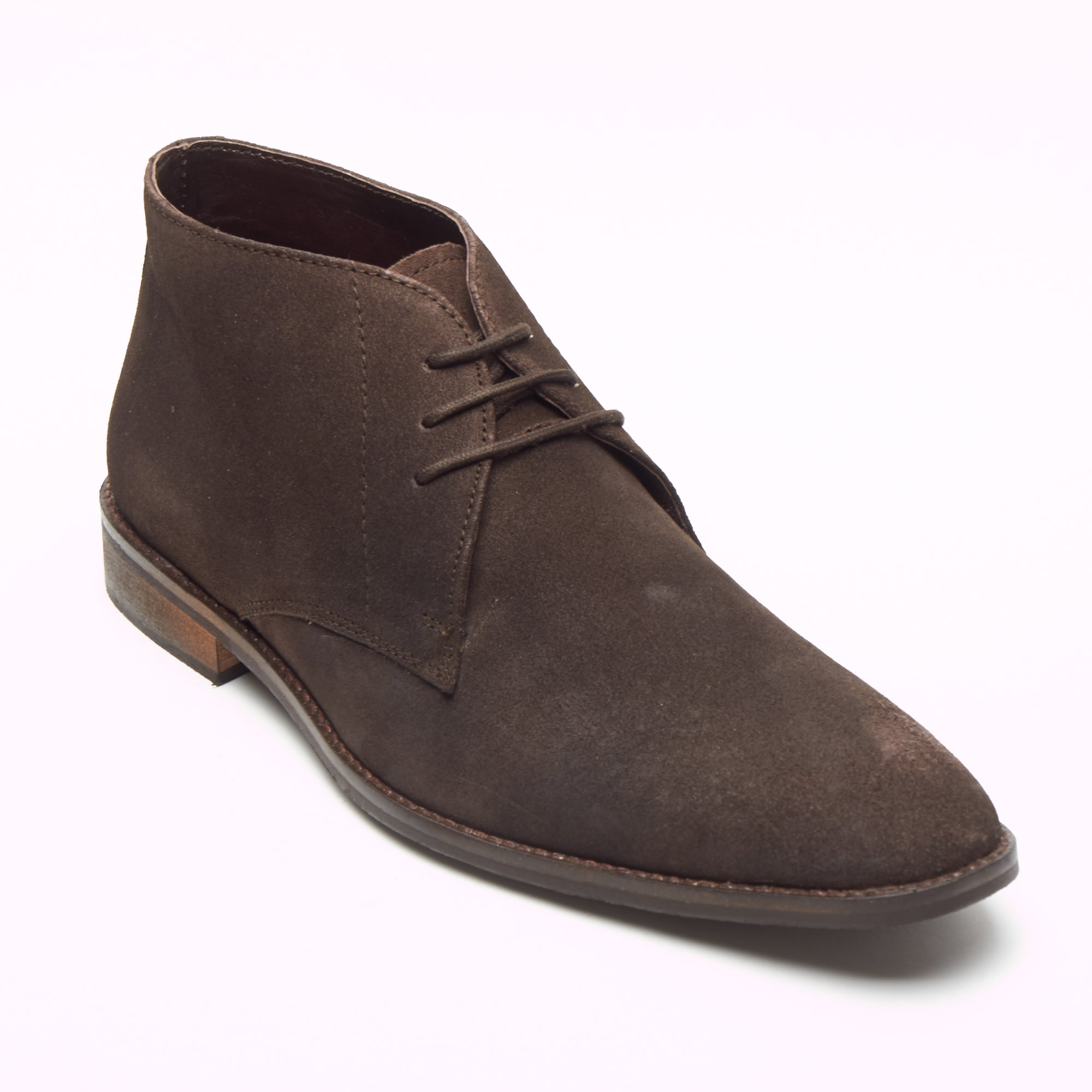 770f064193028 Mens Suede Ankle Boots - SF-251-Suede Brown