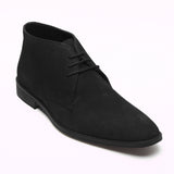 Mens Suede Ankle Boots - SF-251-Suede Black