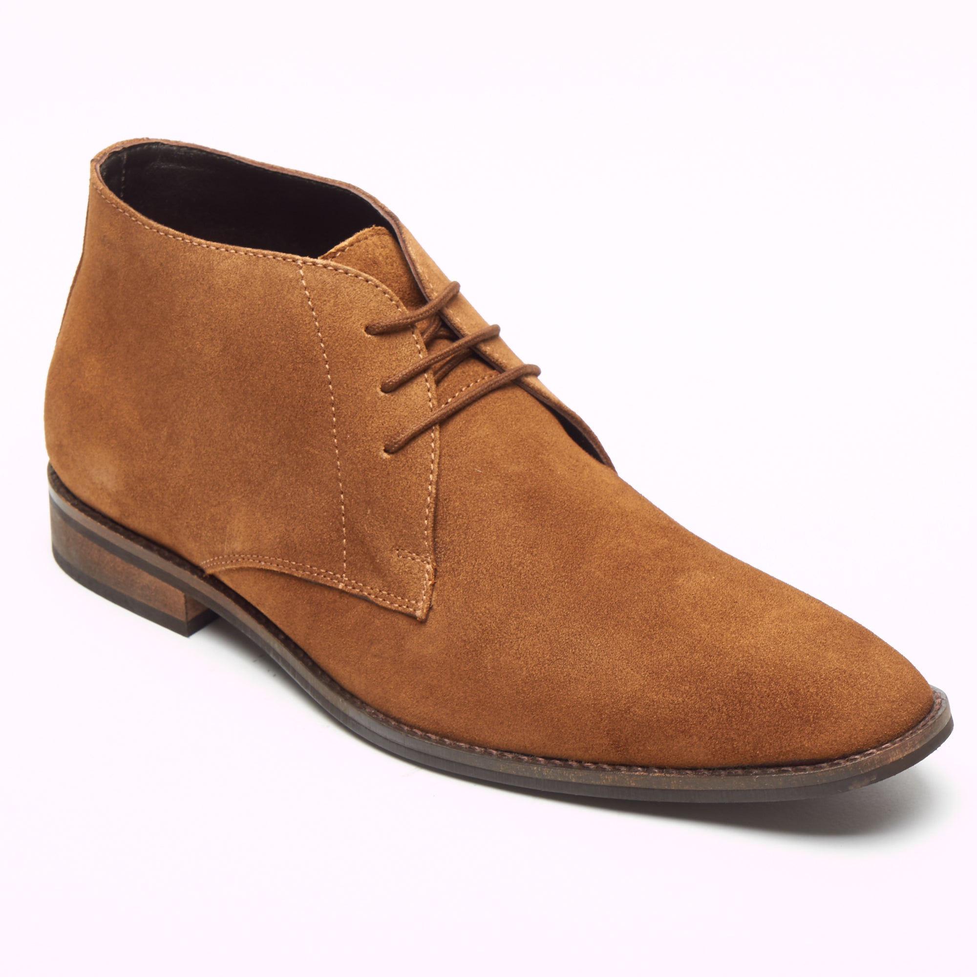Mens Suede Ankle Boots - SF-251-Suede Tan