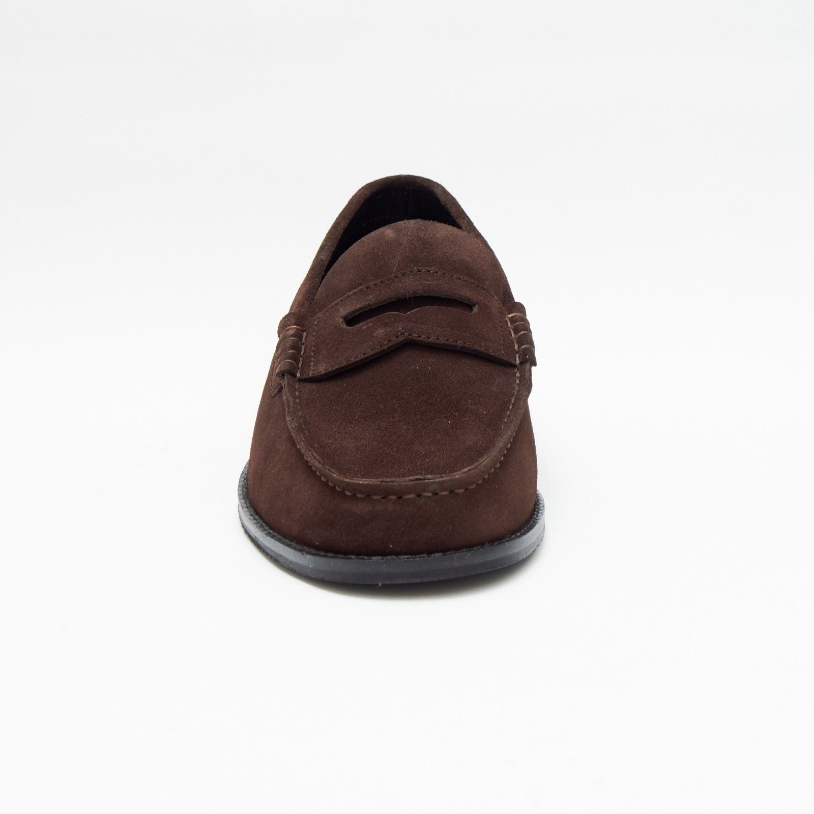 Mens Suede Casual Slip On Shoes - 17925_Brown Suede