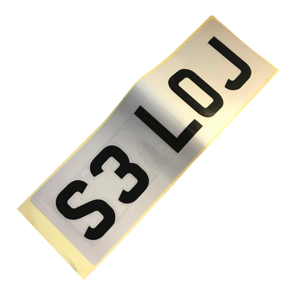 Sticky Vinyl Personalised Number Plate - Small (34x11cm)
