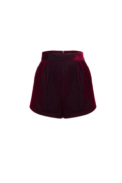 Striped Velvet Brief Shorts