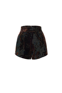 Velour brief shorts