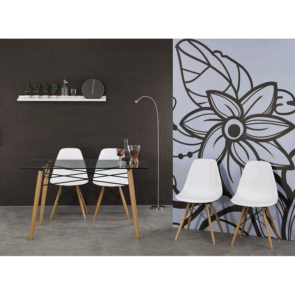 Phenomenal Dining Chair Eames Dsw White Color Set Of 4 Pdpeps Interior Chair Design Pdpepsorg