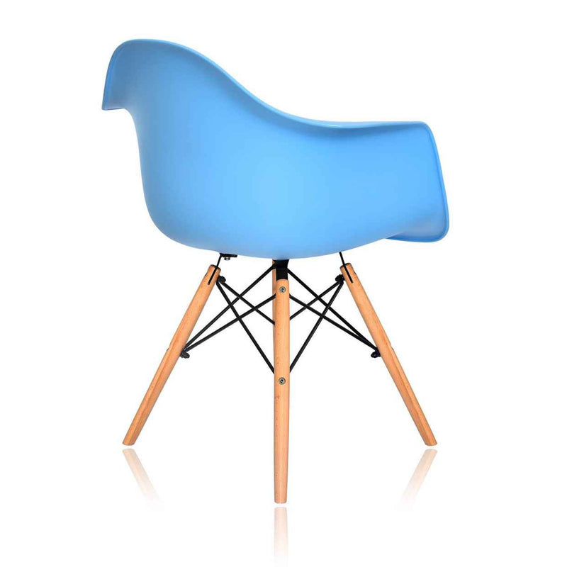 Awesome Dining Chair Eames Daw Blue Color Set Of 2 Gmtry Best Dining Table And Chair Ideas Images Gmtryco