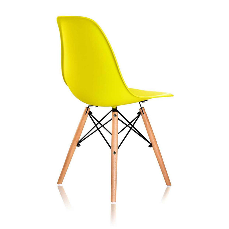 Dining chair Eames DSW - Yellow color - Set of 4
