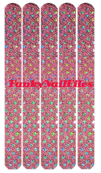 FunkyNailFiles PINK GLITZY (pack of 5) - AldersCourt