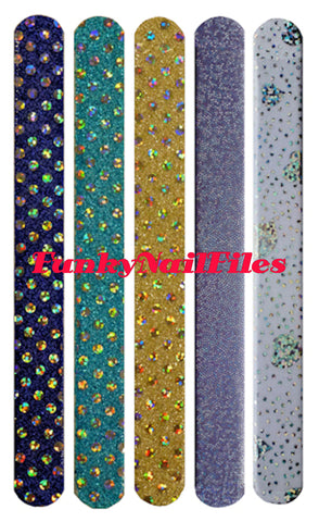 FunkyNailFiles GLITZY RANDOM (pack of 5) - AldersCourt