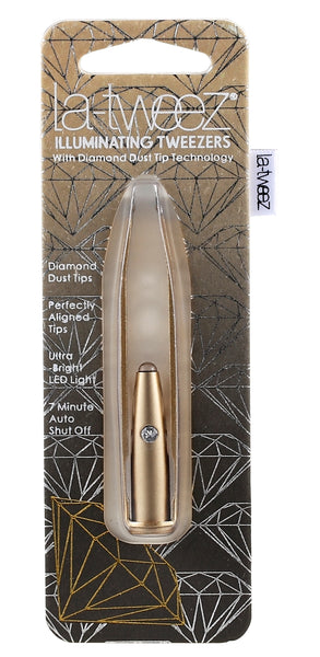 La-tweez ECO GOLD Ultra Bright LED Tweezer  with Diamond Dust Tip Technology - AldersCourt