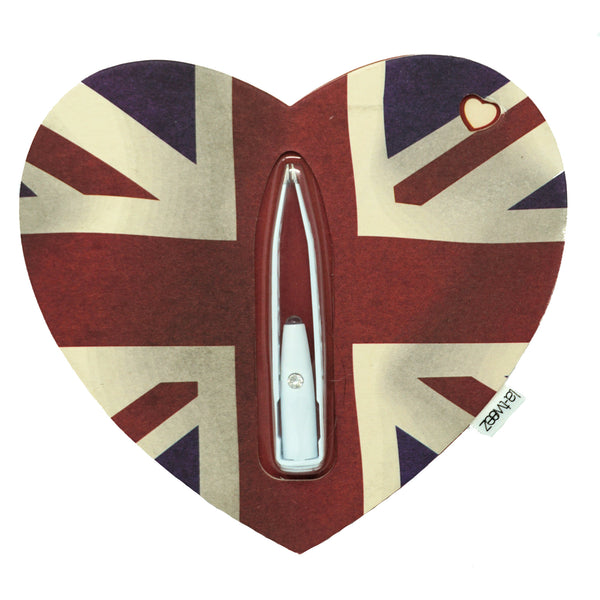 Limited Edition WHITE La-tweez on Vintage Union Flag - AldersCourt