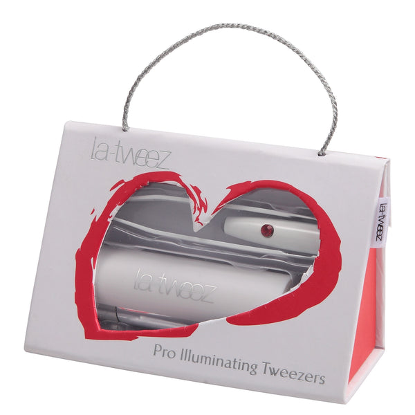 La-tweez Pro Illuminating made with Swarovski Elements in Love Gift Box WHITE