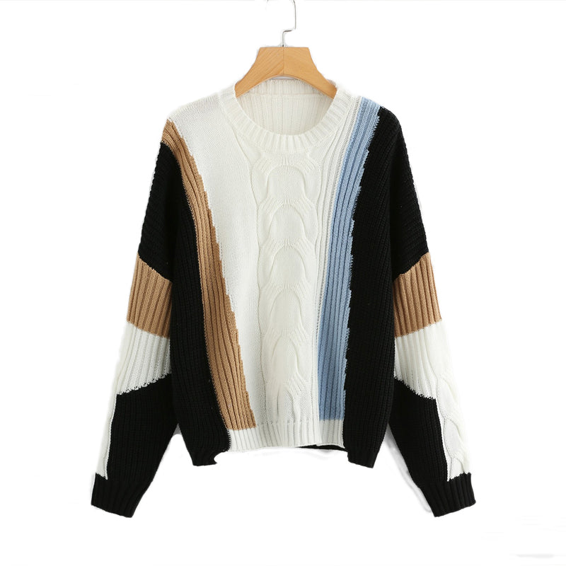 69706836637 Multicolor Elegant Autumn Pullovers Sweaters - gearguruu