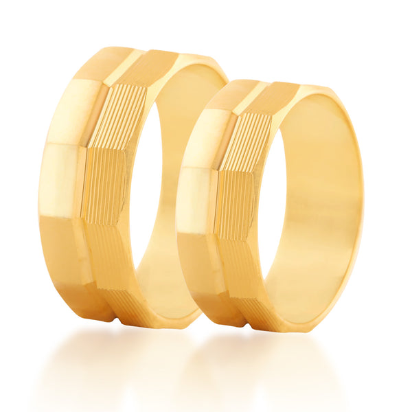 Curved couple  band ring
