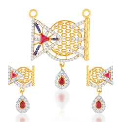 Fancy signity mangalsutra pendant sets