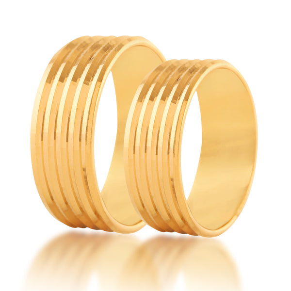 lining couple band ring