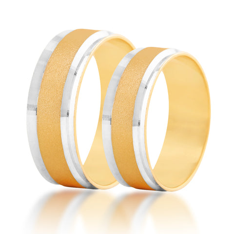 Inswing couple band ring