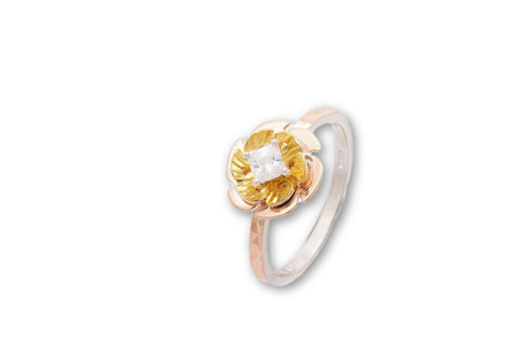 Rose and Yellow fusion ring