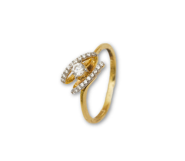 Gold Swarowski Ring