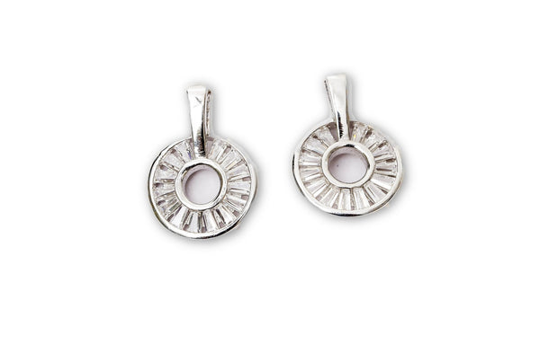925 Silver Budget cut Earrings