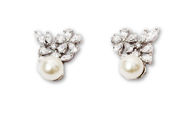 Pearl Marquise Earrings set