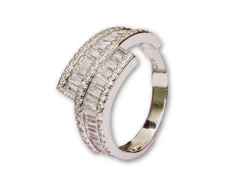 Modern Sterling Silver Band Ring