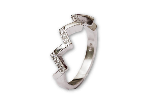 Modern Casual Sterling Silver Ring